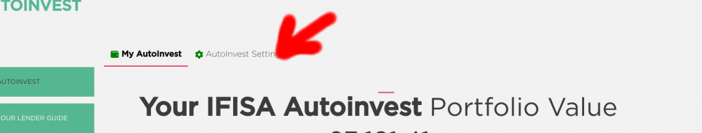 Where are the Crowd Property AutoInvest Settings?